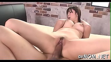 Taut asian mom uses vibrator to make her pussy wet