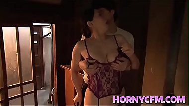 Hornycfm.com - Sleeping Step Mom licking her tits