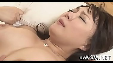 Taut bawdy cleft milf loves vibrators