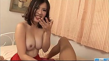 Strong threesome fuck with curvy ass Momoka Amai