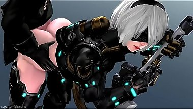 Nier Automata  yorha No.2  ass to mouth