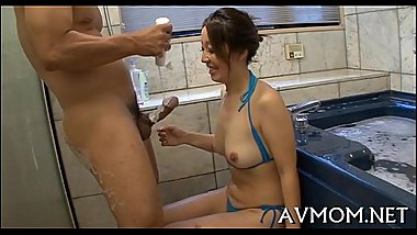 Milf oriental slut and three dongs