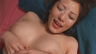 Meisa Hanai Japanese Babe MILF Big Boobs Sex Blowjob Cum Face