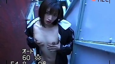 Hitomi Ikeno has juicy boobies touched while she rubs woodies