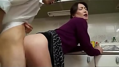 Japanese mom with son hardcore