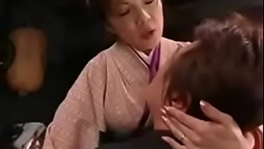Japanese Mom Seduces Young Son