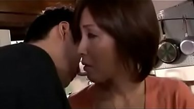 Asian Japanese Milf mom seduced son'_s 2 friends for her son - ReMilf.com