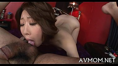 Slut milf oriental sucks on hard ramrod