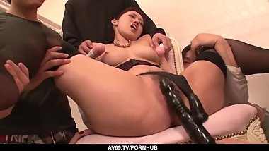 Super steamy Asian group sex with Ann Yabuki - More at 69avs com
