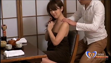 Massage goes too far for japanese milf