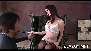 Milf oriental gets fingered and screwed