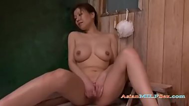 Busty Milf Fingering Herself In The Sauna