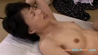 Mature Woman With Hairy Pussy Fucked By Young Guy Creampie On The Mattress