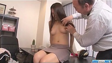 Asian babe Satomi Suzuki is ready to fuck her boss