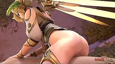 Winged Victory Mercy Cowgirl Overwatch blender Animation WSound prostitute