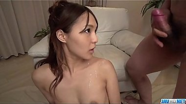 Cock sucking milf Yukina Momota blows like an angel