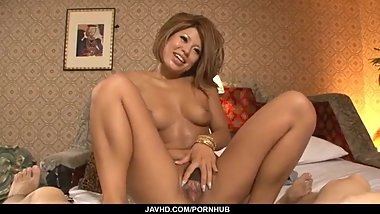 Aiki Kurosawa tanned Japanese fucked in hardcore