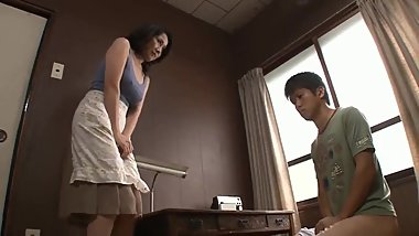Japanese StepMom Caught Son Masturbating Son Force To Fuck Mom