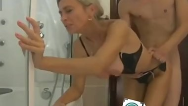 Milf and boy having sex in bathroom arycams.com